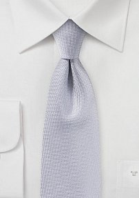 Microtexture Tie in Silver