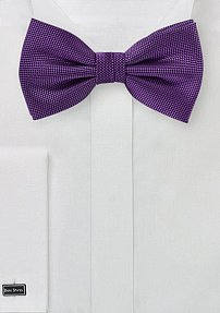 Matte Finish Bow Tie in Violet