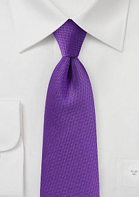 Microtexture Tie in Violet