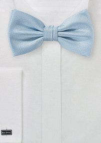 Microtexture Bow Tie in Powder Blue