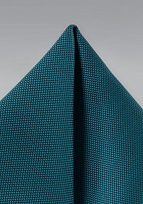 Solid Matte Finish Pocket Square in Peacock