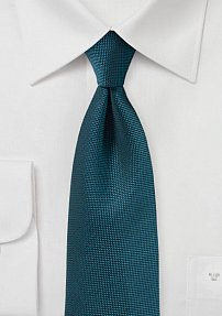 Peacock Teal Matte Finish Tie