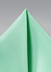 Matte Textured Pocket Square in Mint