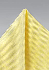 Sun Yellow Matte Finish Pocket Square