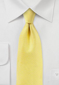 Canary Yellow Tie with Microtexture
