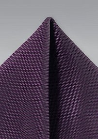 Microtexture Hanky in Grape Purple