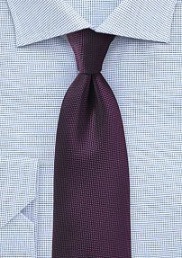 Grape Color Tie with Matte Microtexture