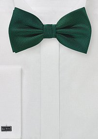 Microtexture Bow Tie in Hunter Green