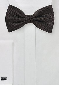Solid Matte Bow Tie in Chocolate Brown
