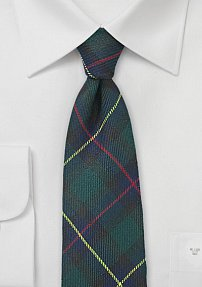 Scottish Tartan Plaid Tie in Hunter Green