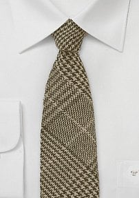Prince of Wales Tweed Tie in Brown