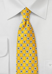 Flower Necktie in Dandelion Yellow