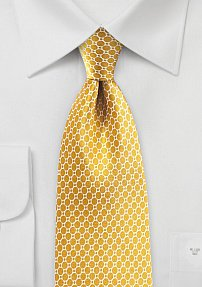 Golden Glow Colored Tie in Satin Silk