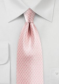 Blush Summer Tie in Satin Silk