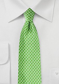 Satin Silk Designer Tie in Kelly Green