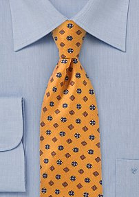 Pendant Floral Tie in Bright Gold
