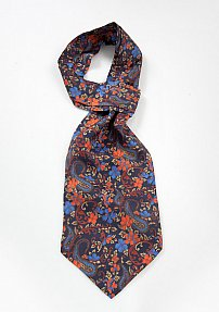 Floral and Paisley Print Ascot Tie
