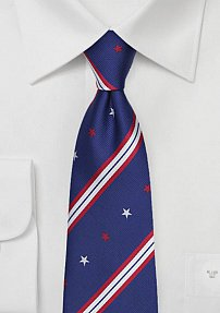 Patriotic Mens Tie with Stars and Stripes