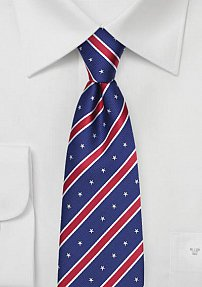 Elegant Patriotic Striped Mens Tie