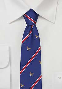 Patriotic Mens Tie with American Bald Eagles