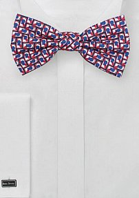 Beer Can Print Summer Bow Tie