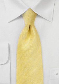 Herringbone Tie in Sunbeam Yellow