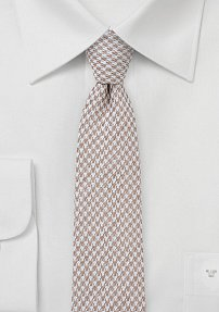 Men's Houndstooth Cotton Tie in Golden Wheat