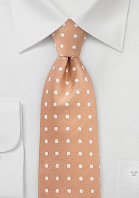Polka Dot Tie in Soft Summer Peach