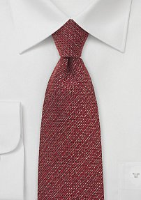 Autumn Red Designer Tie in Wool