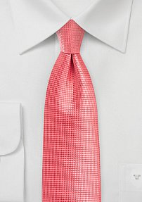 Solid Necktie in Sugar Coral Color