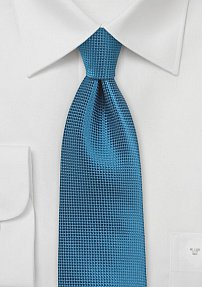 Solid Textured Tie in Seaport Blue