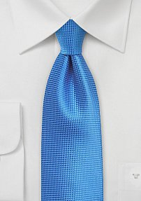 Solid Color Tie in French Blue