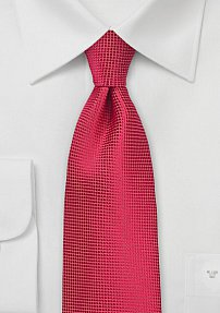 Solid Hued Tie in Formula One Red