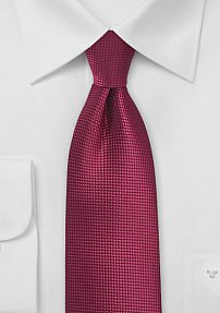 Black Cherry Mens Tie in Extra Long Length