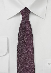Deep Wine Red Skinny Designer Tie