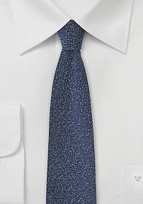 Slim Necktie in Midnight Blue