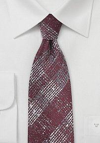 Trendy Winter Plaid in Wine Red