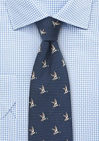 Countrymen Collection Flying Ducks in Navy