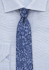 Silk Lace Designer Tie in Blue