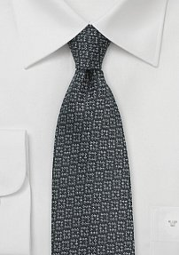 Textured Wool Tie in Elegant Pewter