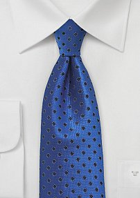 Ultramarine Colored Polka Dot Tie