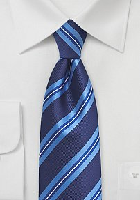 Royal Blue and Sky Blue Striped Tie