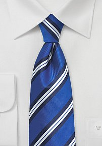 Striped Necktie in Horizon Blue