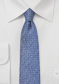 Vintage Textured Silk Tie in Ultramarine