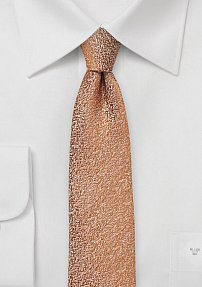 Caramel Skinny Necktie with Texture