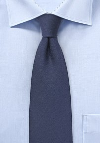 Wool Woven Necktie in Nightfall Blue