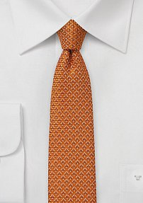 Slim Cut Tie in Burnt Orange