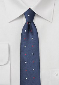 American Skinny Tie in Red, White, and Blue