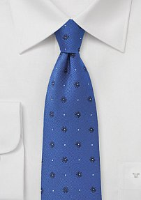 Royal Blue Tie with Navy Florals
