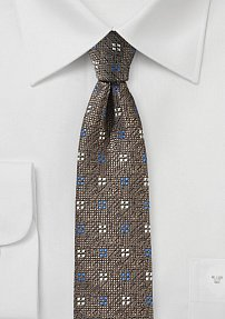 Tobacco and Bronze Mens Tie